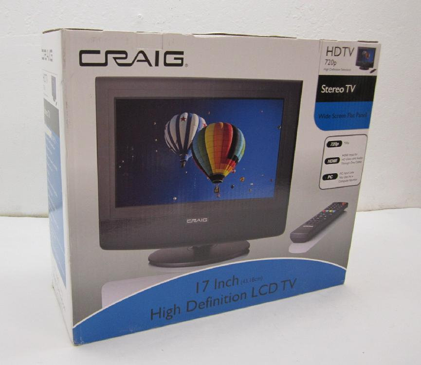 "Craig 17"" High Definition LCD TV - New in Box"