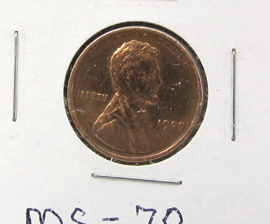 1909 VDB Lincoln Cent - Marked MS70