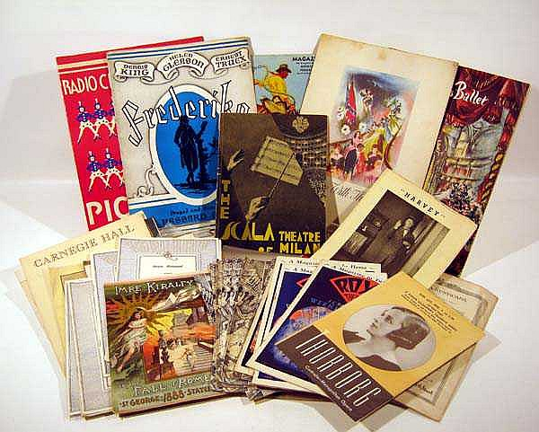 Antique & Vintage THEATER, BALLET, CLASSICAL MUSIC Ephemera Broadway Metropolitan Opera