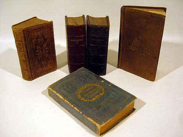 5V Scripture Promises New Testament Bible & Closet ANTIQUE MINIATURE THEOLOGY 19th-Century Oxford University Press Old & New Testaments