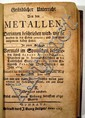 Alvaro Alonso Barba GRUNDLICHER UNTERRICHT VON DEN METALLEN 1763 First American Rare Imprint On Mining & Geology