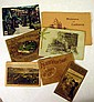Antique TRAVEL, RAILROAD, RUSKIN EPHEMERA Mardi Gras Postcards Southern California SC