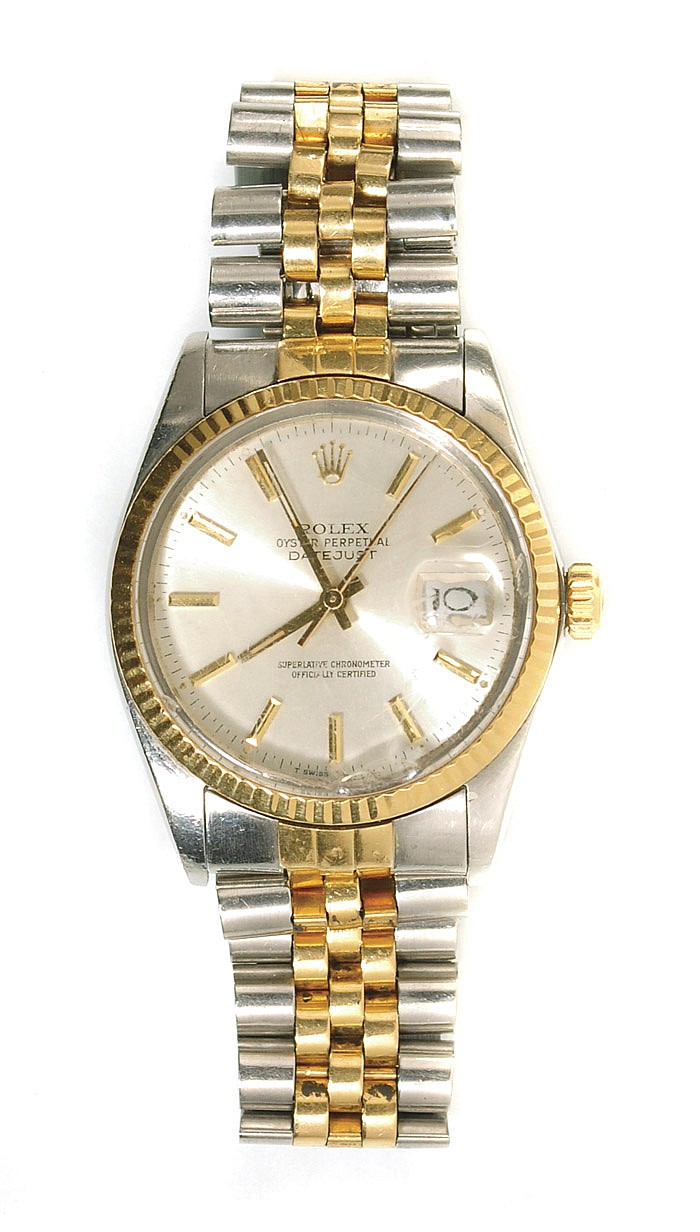 MAN'S ROLEX OYSTER PERPETUAL DATEJUST WRISTWATCH,
