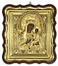 RUSSIAN ICON OF THE TIKHVIN MOTHER OF GOD, 18TH