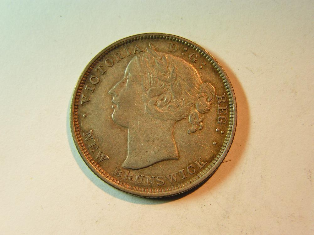 New Brunswick 20 cents 1862 silver