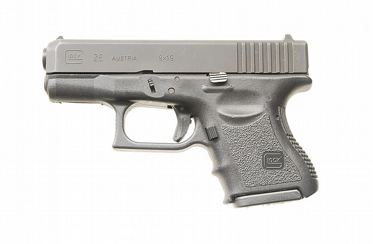 Glock Model 26 Semi Auto Pistol.