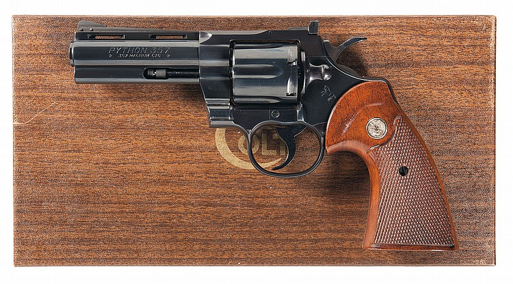 Colt Python Model Double Action Revolver with Factory Box