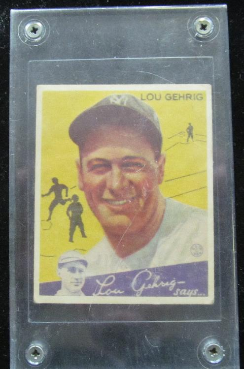 1934 Lou Gehrig No.37 Big League chewing gum card