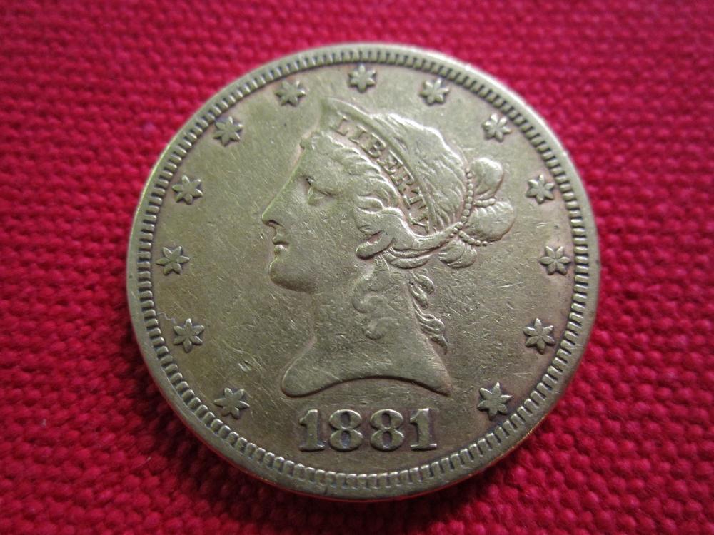 1881 Ten Dollar Liberty Gold Piece