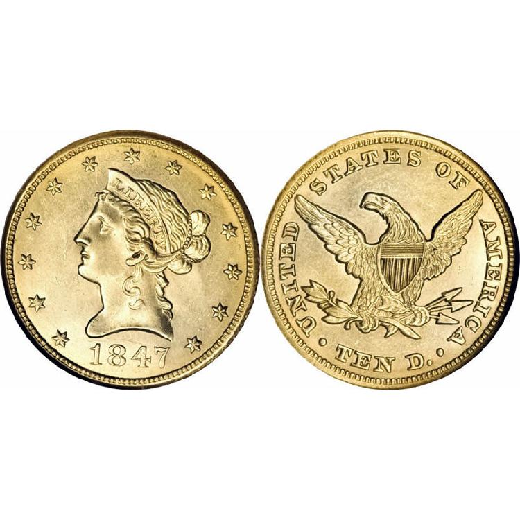 $10 Liberty Gold - Eagle - 1838 to 1907 - Random date - L4002