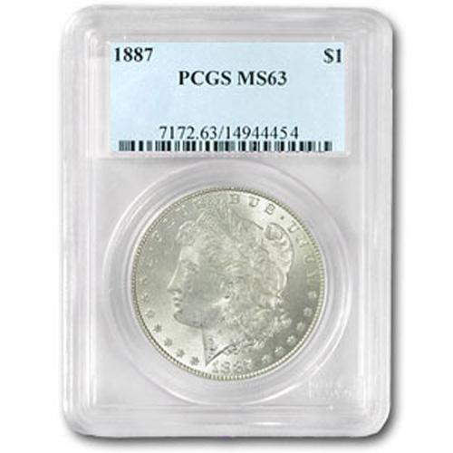 1887 Morgan Silver Dollar MS63 PCGS Certified - P1887 - L1887