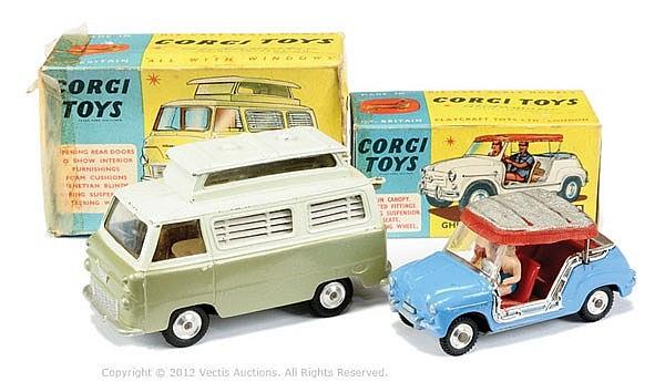 PAIR inc Corgi No.240 Ghia Fiat 600 Jolly